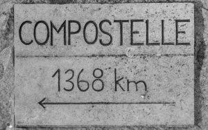 Jakobsweg Espalion Wegweise Compostella