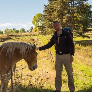 Jakobsweg Le Brignon Frank Stückradt Pferd