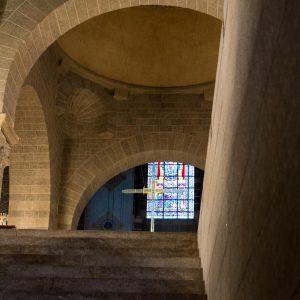 Jakobsweg Le Puy-en-Velay Kathedrale Pilgertreppe Richtung Innenraum