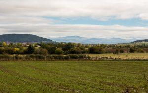 Jakobsweg Le Puy-en-Velay Rückblick ohne Stadt