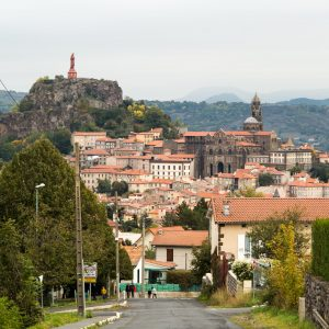 Jakobsweg Le Puy-en-Velay Rückblick Wahrzeichen