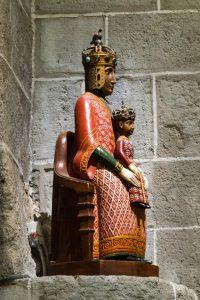 Jakobsweg Le Puy-en-Velay Rekonstruktion der Madonna mit Kind