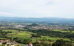 Jakobsweg Montsupt Blick auf Saint Romain
