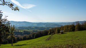 Jakobsweg Panorama Richtung Lot-Tal