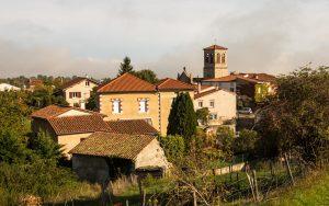 Jakobsweg Saint Thomas La Garde Blick auf den Ortskern