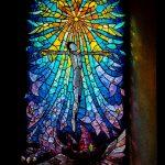 Jakobsweg Chapelle Saint Roche Kirchenfenster Jesus