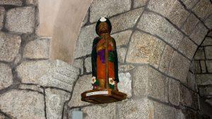 Jakobsweg Nasbinals Jakob in der Kirche